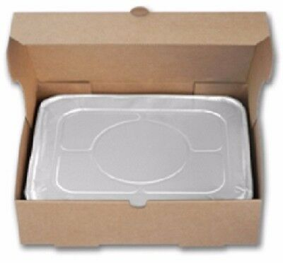 50ct Half Size Aluminum TrayTransport Boxes - Absorbs Spills - Keep food hot