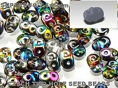 Superduo 2-Hole Crystal Vitrial 2.5x5mm  Glass Beads- 15g packet