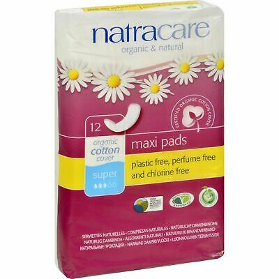 Natracare Natural Menstrual Pads - 12 Pack 4 Pack