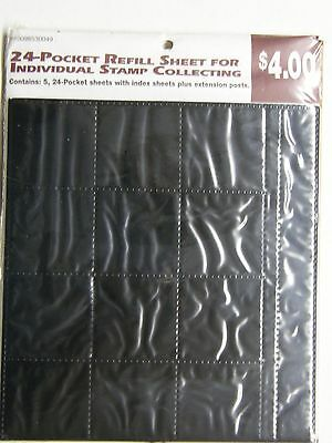 24-Pocket Refill Sheet For Individual Stamp Collecting