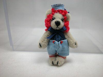 """World of Miniature Bears 1.25"""" Cashmere Bear Baby Andy #893 Collectible Bear"""