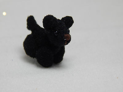 """World of Miniature Bears 0.75"""" Velour Puppy Toto #5968 Collectible Bear"""