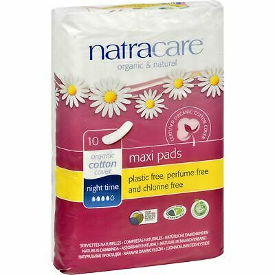 Natracare Natural Night Time Pads - 10 Pads 2 Pack