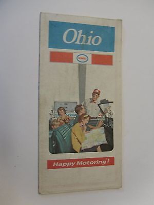 1972 Humble Gas Station Road Map-Ohio