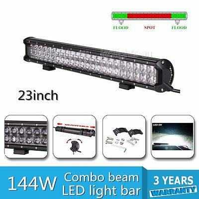 Fish-eye 23inch LED light bar 144W Spot&Flood Offroad SUV UTE work fog Jeep lamp