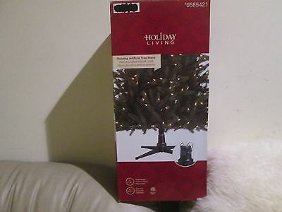 "New Holiday Living 31"" Metal Rotating Artificial Tree Stand"