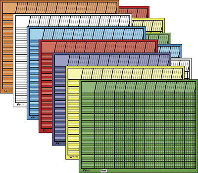 Shapes Etc Large Horizontal Incentive Chart Set, 28 in W X 22 in H, Assorted