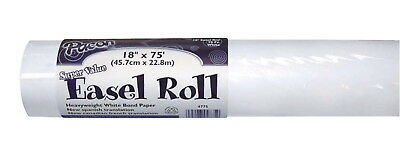 Pacon Super Value Adjustable Easel Paper Roll, 18 in X 75 ft, White