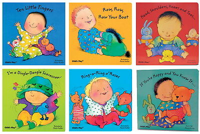 Child's Play Critters up Close Sing-Along Toddler Board Book Set, 6 Pieces,