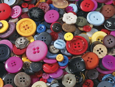School Smart Assorted Shape Craft Button, Assorted Size, Assorted Color, 1 lb