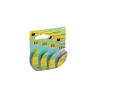 Lee 3-Line Removable Wide Highlighter Note Tape, 1/2 X 393 in, Yellow