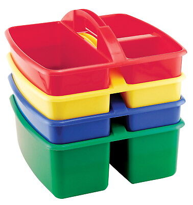 ECR4KIDS Small Art Caddy, 5-3/4 x 9-1/4 x 9-1/4 inches, Pack of 4