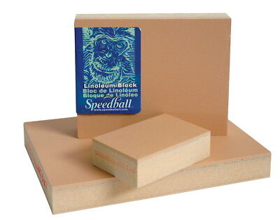 Speedball Linoleum Block, 4 X 6 in, Smoky Tan