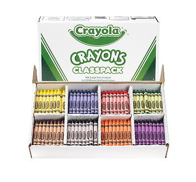 Crayola Large Non-Toxic Crayon Classroom Pack, 7/16 X 4 in, Assorted Color, Pack