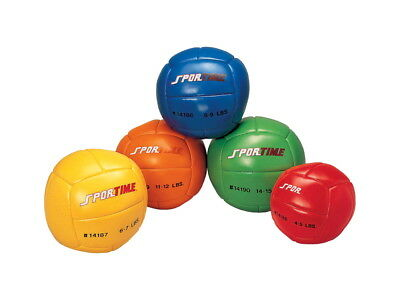 Sportime 11 in Medicine Ball, 14-15 lbs, Green