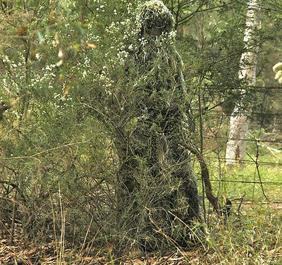 5pcs Yowie 3D Hunting Camo Jungle Ghillie Suit Bionic Training Bowhunt Sniper