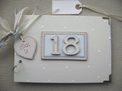 PERSONALISED 18TH birthday .A5  SIZE... PHOTO ALBUM/SCRAPBOOK/MEMORY BOOK.