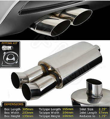 UNIVERSAL STAINLESS STEEL PERFORMANCE EXHAUST BACKBOX - LMO-003 – Peugeot 1
