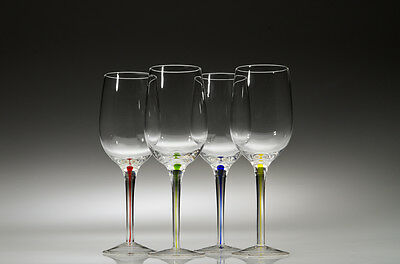 Wine Glasses with Multi-Colored Stems