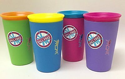 As Seen on TV Wow Cup, Spill-Proof Cup 4 pack, 4 Colors