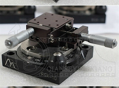 360° Rotary Stage & XY Two Axis Precision Stage Del-Tron 101 RSX-1.0 #C0P5