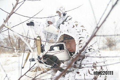 Camouflage Single Hunting Bionic Training 3D Snow Camo Net Ghillie Suit