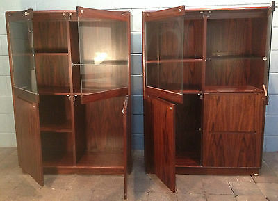Display Cabinet Pair Office storage Collectors Cabinets FREE MANCHESTER DELIVERY