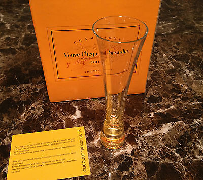 Veuve Clicquot Ponsardin Champagne Trendy Flutes Glass Each Rare Hard To Find