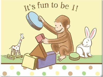 Curious George 1st Birthday Invitations 8ct Party Supplies