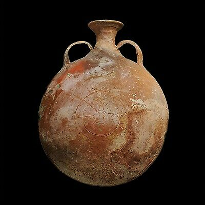 Aphrodite- Ancient Holy Land  Pottery  Pilgrim Flask