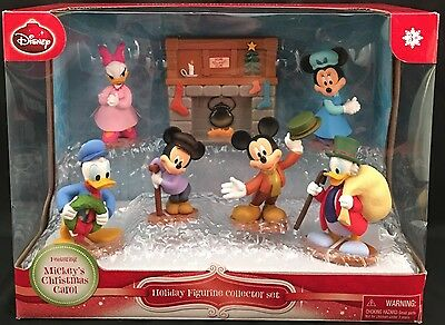 7 Pc. Disney Mickey's Christmas Carol Figurine Collector Set Minnie Mouse Donald