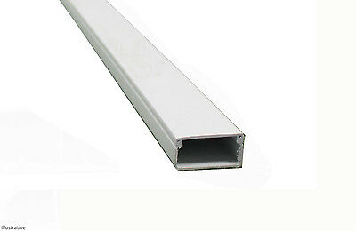 3M PVC Plastic Electrical Trunking Cable Tidy 54 x 28mm