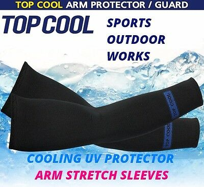 3 Pairs Cooling Warmer Sport Arm Stretch Sleeves Sun Block UV Protection Covers