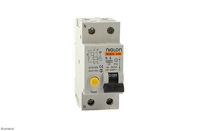 6 Amp Combined RCD / MCB Circuit Breaker