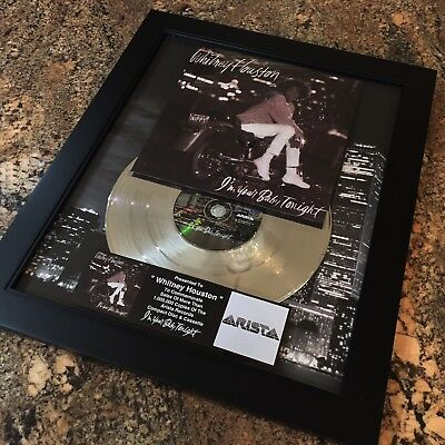 Whitney Houston I'm Your Baby Platinum Record Album Disc Music Award MTV RIAA