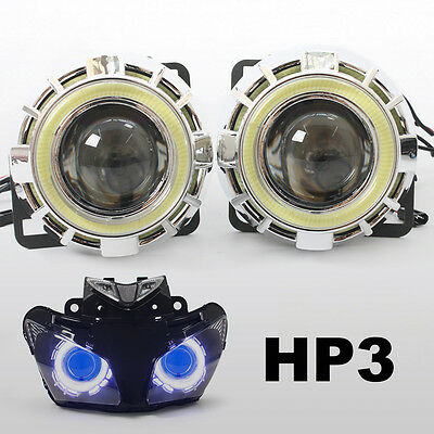 KT LED Halo Eyes HID Projector Lens for Honda CBR500R 2013 2014 2015 Headlight