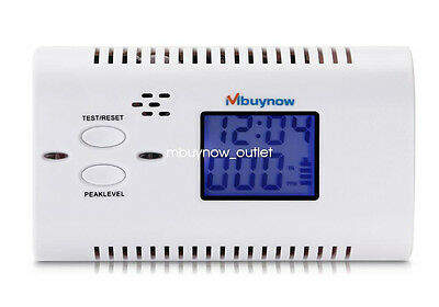 Mbuynow Carbon Monoxide Alarm Detector CO Gas Fire Warning Monitor Voice Prompt