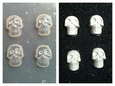 Skulls Flexible Resin Mold For Handmade Jewelry or Hair Bows