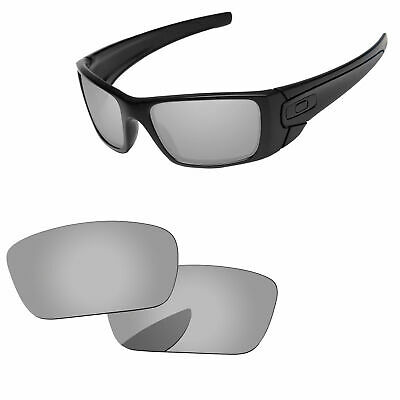 Silver Chrome Mirror Polarized Replacement Lenses For-Oakley Fuel Cell Sunglass