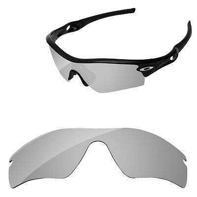 PapaViva Silver Chrome Mirror Polarized Replacement Lenses For-Oakley Radar Path