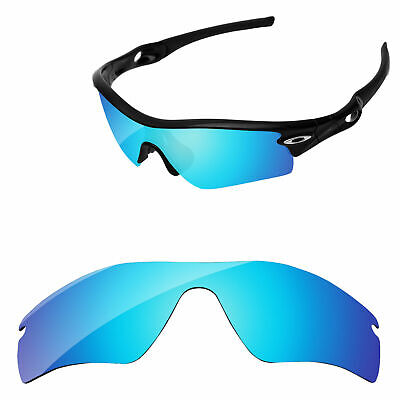 PapaViva Ice Blue Mirror Polarized Replacement Lenses For-Oakley Radar Path