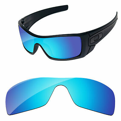 PapaViva Ice Blue Mirror Polarized Replacement Lenses For-Oakley Batwolf