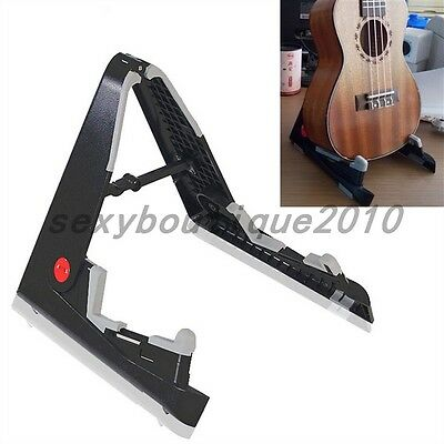 AGS-01/AUS-02 Folding Portable Aframe Musical Guitar Bass Stand Support Holder
