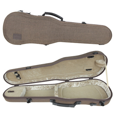 GEWA Bio-S Shaped Violin Case for 4/4 Size Brown/Beige