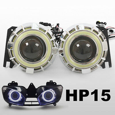 KT Halo Demon Eye HID Projector for Yamaha YZF R6 1999 2000 2001 2002  Headlight