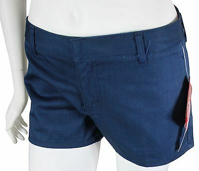 NEW VTG 90s DICKIES GIRL Womens Twill SHORT SHORTS Size 5 Navy Blue Made In USA!
