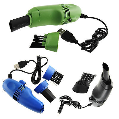 Mini USB Vacuum Cleaner Dust Collector Brush For Keyboard Computer Laptop LOT