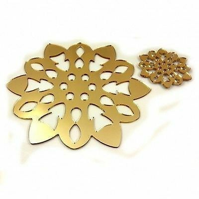 Mirrored Gold Snowflake  Placemats and Coasters