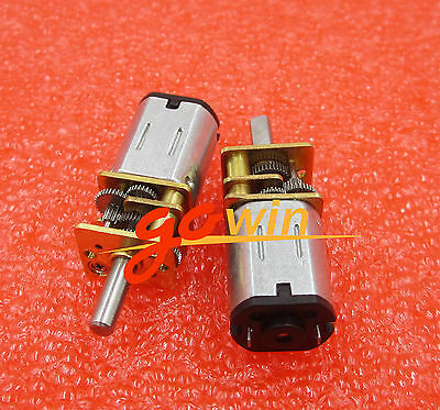 DC 12V 200RPM Micro Speed Reduction Gear Motor with Metal Gearbox Wheel Shaft