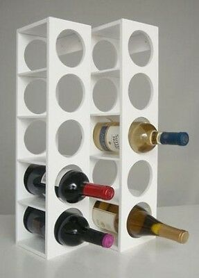 Proman WX16563 Rutherford Wine Racks - White. Shipping is Free